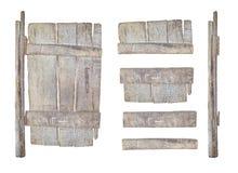 被隔绝的空的木标志集合 免版税库存图片