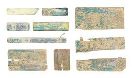 被隔绝的空的木标志集合 免版税库存照片