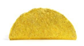 被隔绝的空的炸玉米饼壳 免版税库存照片