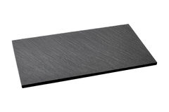 被隔绝的空的黑板岩板材 免版税库存照片
