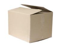 被隔绝的箱子纸盒 库存图片