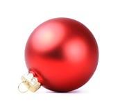 被隔绝的红色圣诞节球 库存图片