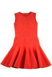 被隔绝的红色球衣礼服 免版税库存图片