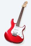 被隔绝的红色电吉他 免版税库存图片
