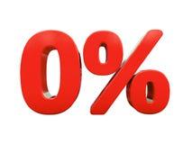 被隔绝的红色百分号 免版税库存照片