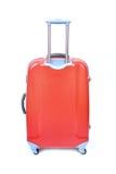 被隔绝的红色行李 免版税库存照片