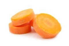 被隔绝的红萝卜切片 库存图片
