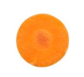 被隔绝的红萝卜切片 图库摄影