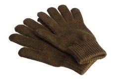 被隔绝的羊毛手套 库存图片