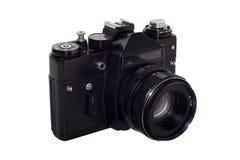 被隔绝的老单镜头反光照相机 免版税库存图片