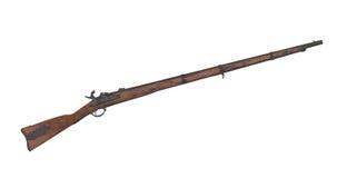 被隔绝的老南北战争步枪 库存图片