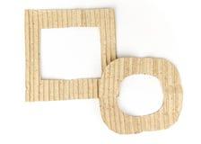 被隔绝的老棕色纸板框架集合 免版税库存图片