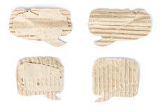 被隔绝的老纸板纸讲话泡影集合 免版税库存图片