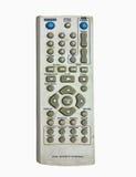 被隔绝的老肮脏的电视遥控 免版税库存图片