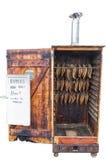 被隔绝的腌鱼吸烟房 免版税库存照片