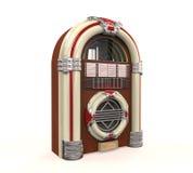 被隔绝的自动电唱机收音机 库存照片