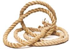 被隔绝的船绳索和结 免版税库存图片