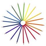 被隔绝的色的铅笔 库存照片
