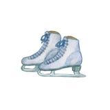 被隔绝的花样滑冰 免版税库存图片