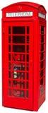 被隔绝的英国伦敦红色电话亭 免版税库存照片