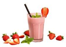 被隔绝的草莓奶汁 库存图片