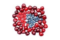 被隔绝的莓果堆 免版税库存照片