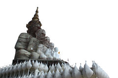 被隔绝的菩萨雕象 免版税库存照片