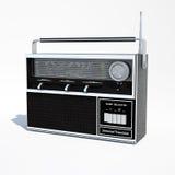被隔绝的葡萄酒世界带收音机3d例证 图库摄影