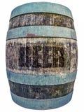 被隔绝的葡萄酒啤酒桶 图库摄影