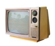 被隔绝的葡萄酒模式电视,裁减路线。 图库摄影