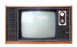 被隔绝的葡萄酒模式电视,裁减路线。 库存照片
