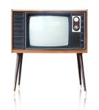 被隔绝的葡萄酒模式电视,裁减路线 免版税图库摄影