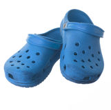 被隔绝的蓝色便鞋 免版税库存照片