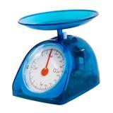 被隔绝的蓝色厨房标度(裁减路线) 免版税图库摄影