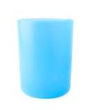 被隔绝的蓝色塑料烧杯杯子 库存照片
