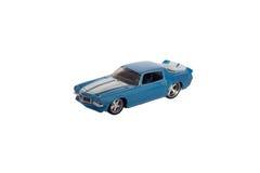 被隔绝的蓝色肌肉玩具汽车 库存图片