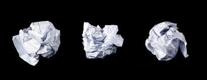 被隔绝的被弄皱的纸 库存照片