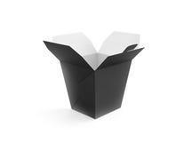 被隔绝的被打开的空白的膳食箱子大模型立场 免版税图库摄影