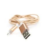 被隔绝的被折叠的USB闪电缆绳 免版税图库摄影