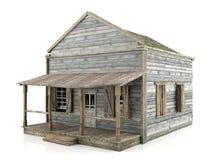 被隔绝的被放弃的房子,侧视图 免版税图库摄影