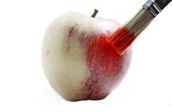 被隔绝的被绘的苹果 免版税库存图片