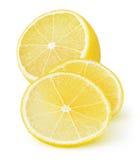 被隔绝的裁减柠檬 库存照片
