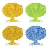 被隔绝的装饰树 免版税图库摄影