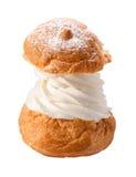 被隔绝的豪华奶油饼 免版税库存照片