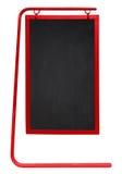 被隔绝的边路黑板-红色 库存图片