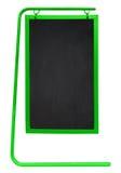 被隔绝的边路黑板-绿色 免版税图库摄影