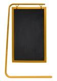 被隔绝的边路黑板-黄色 库存图片