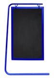 被隔绝的边路黑板-蓝色 库存照片