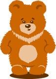 被隔绝的逗人喜爱的棕熊传染媒介 库存照片
