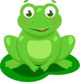 被隔绝的逗人喜爱的青蛙动画片传染媒介 免版税图库摄影